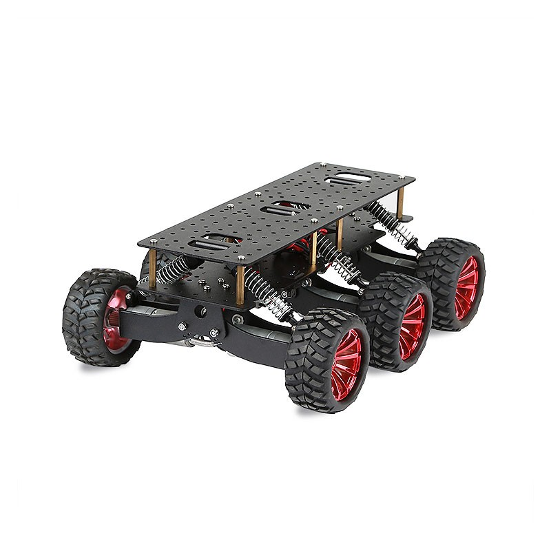 2018 pour Arduino Raspberry Pie WIFI système de voiture 6WD plate forme de recherche et de sauvetage châssis de voiture intelligente choc escalade tout terrain - 2