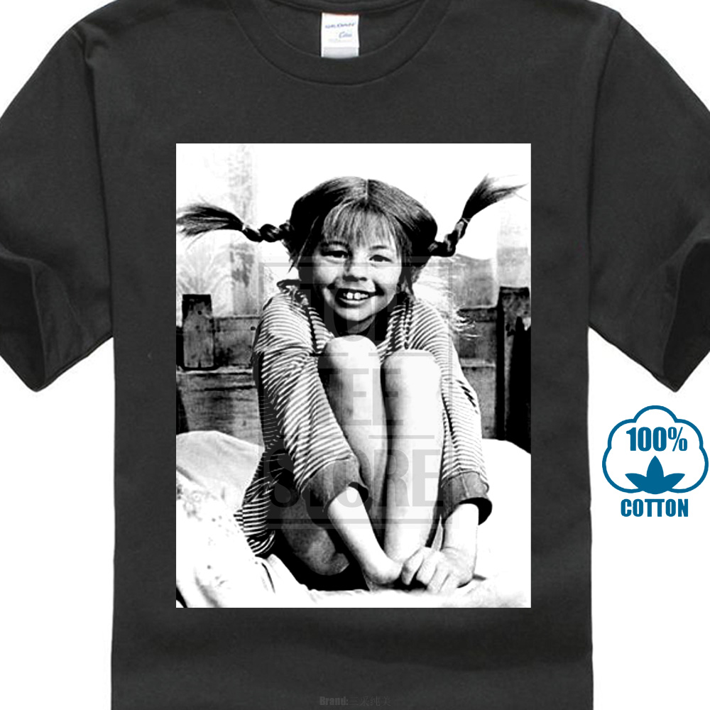 T     Shirt   Maglia Pippi Calzelunghe Telefilm Cult Anni Print 70 1 S 3Xl Mens   T     Shirts   Fashion 2018 100% Cotton Short Sleeve