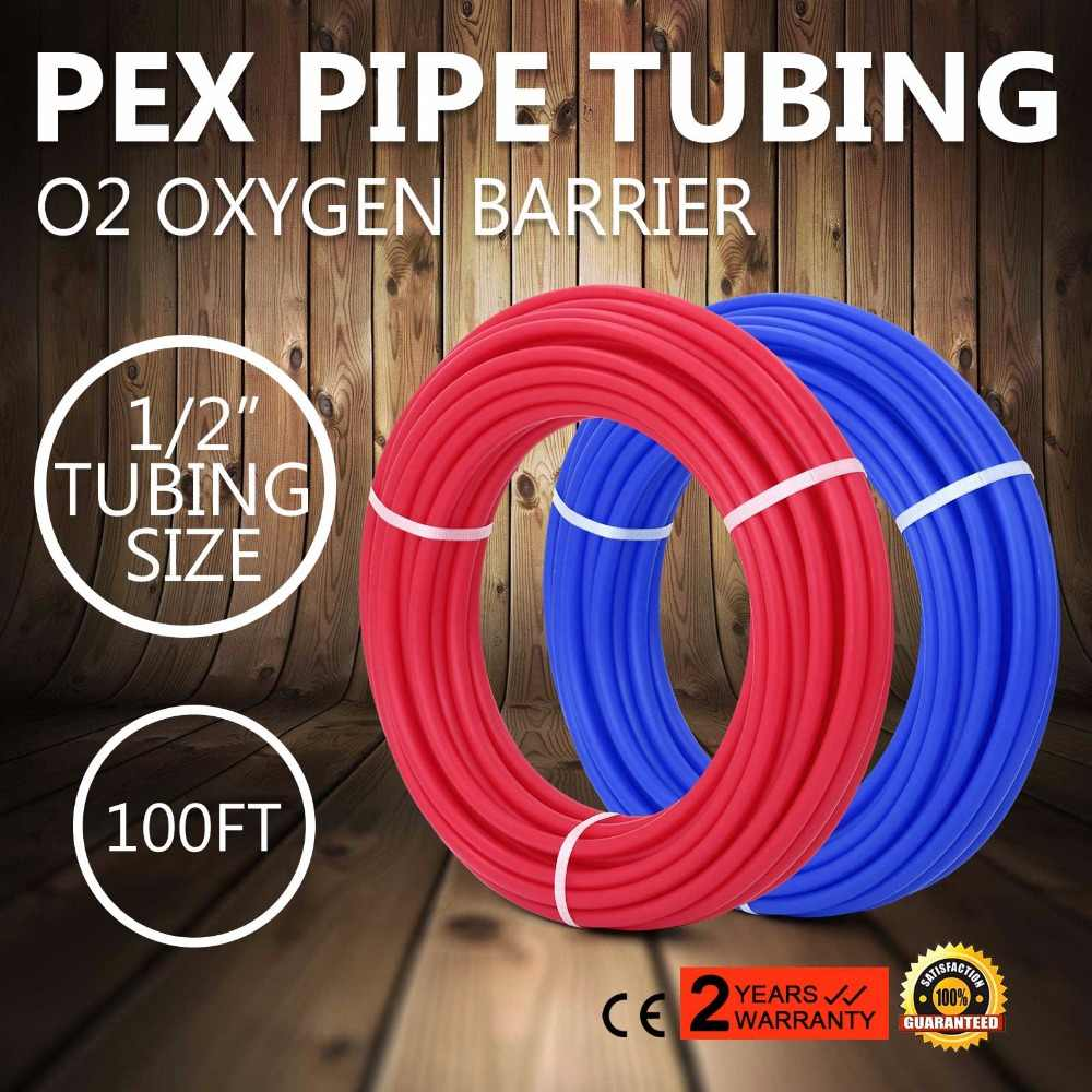 "2 Rolls 1//2/""x100ft PEX Tubing for Potable Water Combo O2 Oxygen Barrier Best"