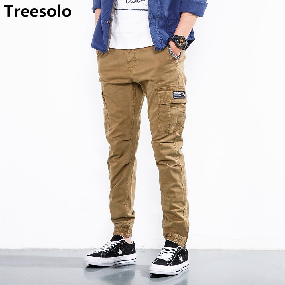 Ehrlich Treesolo Hosen Männer 2018 Neue Mode Casual Baumwolle Military Kleidung Hohe Qualität Feste Pantalon Hommes Drop Shopping 464
