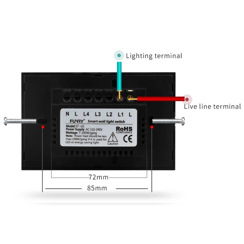 Interruptores e Relés de controle remoto interruptor de Size : 120*73*34mm