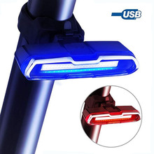 4 colors USB Rechargeable Bicycle Taillight