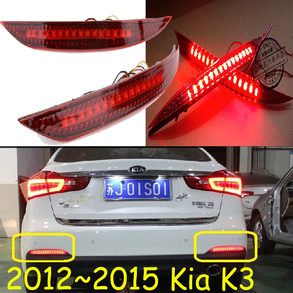 Sedan car use,KlA K3 rear light;2012~2015,LED,free ship!Sportage,soul,spectora,k5,K 2 K3 K4,K7,sorento,kx5,ceed;K3 fog light