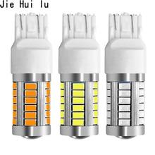 1 Piece 7443 T20 W21W 7440 33 SMD 33SMD LED 5630 5730 Backup Reserve Fog Light Brake Bulb Lamp 12V white red yellow цены