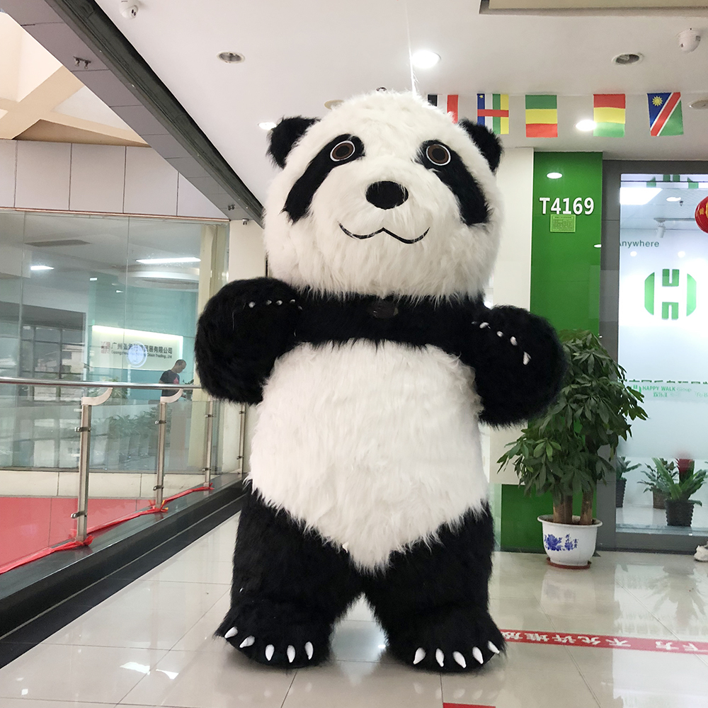 Panda Inflatable Costume Inflatable Panda Mascot For Advertising 2.6M Tall Customize For Adult Suitable For 1.7m To 1.9m Adult