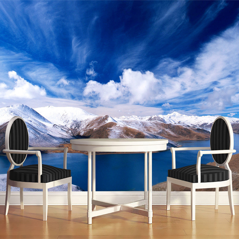 Compare prices on blue mountain wallpaper online shopping for Custom mural cost