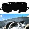 Black Dash Mat Dash Cover Mat Dashboard Cover For Hyundai /Accent 2012 - 2016