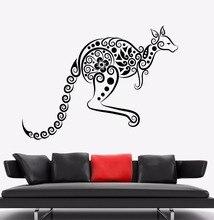 Wall Sticker Kangaroo Animal Vinyl Decal Australia Ornament Art Mural Home Living Room Decor AY1032