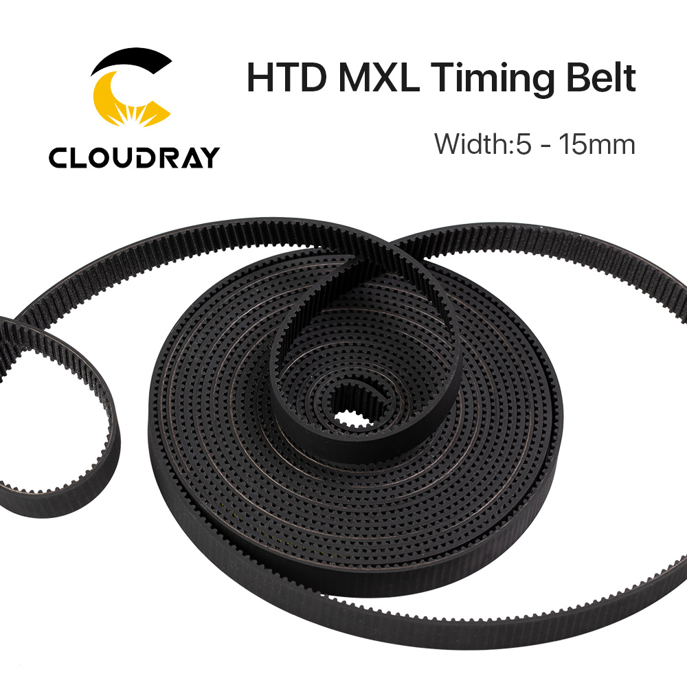 Cloudray MXL Open-Ended Timing Belt Transmission Belts Rubber Width 5mm For Fiber YAG Pully CO2 Laser Engraving Cutting Machine