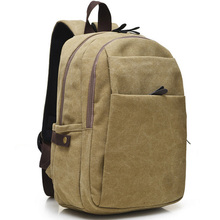Men Male Canvas Backpack College Student School Backpack Bags for Teenagers Vintage Mochila Casual Rucksack Travel