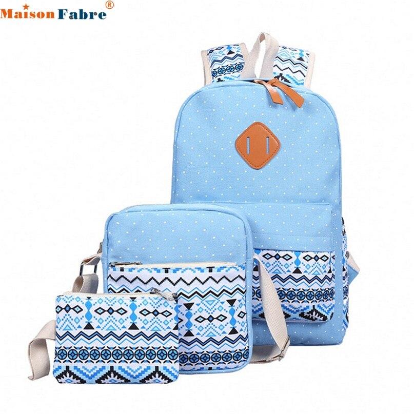 Women Girl Canvas Shoulder School Bag Backpack Crossbody Tote Bag Clutch Purse drop shipping 0724