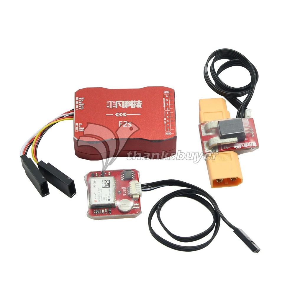 F2S Flight Control with 6M GPS T Plug XT60 Galvanometer for FPV RC Fixed Wing Aircraft