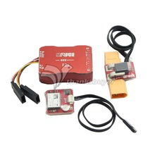 F2S Flight Control with 6M GPS T-Plug/XT60 Galvanometer for FPV RC Fixed-Wing Aircraft
