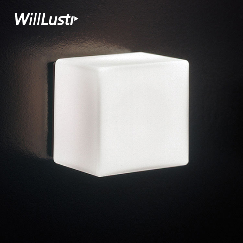 Willlustr Itre Cubi Wall sconce Lamp Ufficio Stile design Modern light hotel restaurant doorway porch vanity lighting novelty willlustr fabric wall lamp beige cloth light europe bronze lighting fixture bedside claridge double sconce with linen shade