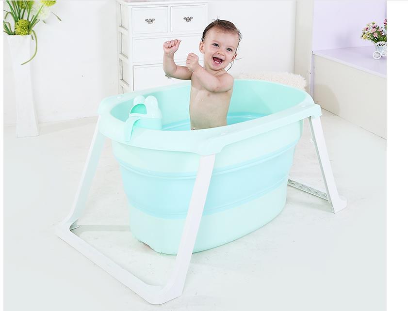 Banheira do Bebê das Meninas Crianças Engrossar Sólidos Rosa/azul Bebê