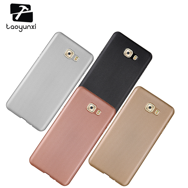TAOYUNXI Cases For Samsung Galaxy C9 Pro Cover C9000 SM-C9000 6.0 inch Cell Phone Bags TPU Carbon Fiber Protective Holster