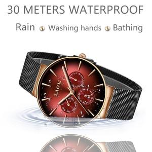 Image 4 - 2019LIGE nowa kobiety oglądać najlepsze marki luksusowe kreatywny Dial kobiety bransoletka zegarek dla pań zegarek Montre Femme Relogio Feminino
