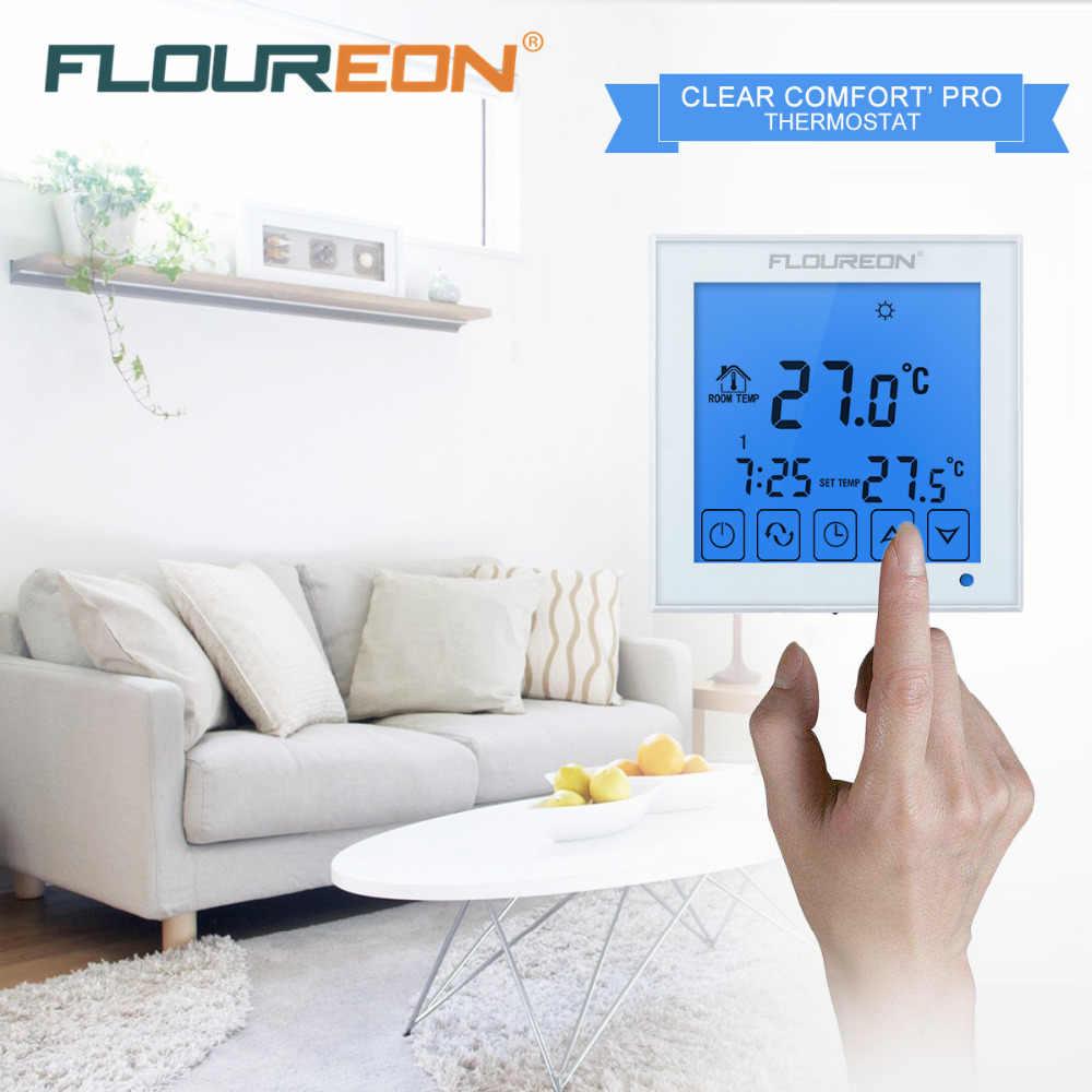 Azul Electrico Porno termostato de calefacción eléctrica floureon controlador de