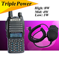 Baofeng UV82HX 8W Walkie Talkie UV 82 Dual Band FM Radio Transceiver walky talky professional UV-5RE Plus UV 5R+Speaker+Headset