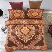 ARNIGU Mandala Bedding Set Bohemia Brown Bedclothes Queen Size Bedlinen Duvet Cover Sheet Pillowcases Home Textile