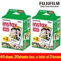 Genuino 40 hojas borde blanco fuji fujifilm instax mini 8 de cine para 8 50 s 7 s 7 90 25 Compartir SP-1 Instantánea Cámara Envío Rápido gratis