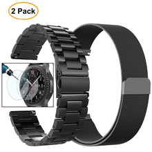 22mm Universal Milanese Loop band for Samsung Gear S3 Classic/S3 Frontier/galaxy watch 46mm Adjustable Stainless Steel Strap(China)