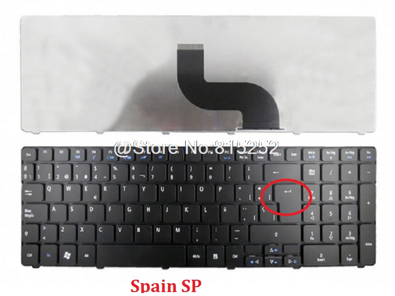 Laptop Keyboard For ACER For Aspire 5516 5532 5517 5534 Russia RU Spain SP MP-08G63SU-528 9J.N2M82.A0S NSK-GFA0S Black NEW
