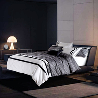 100% cotton Autumn Winter men's black white Duvet Cover Flat Sheet pillowcase 4pcs Bed Linens Bedding Set Bed Cover Set