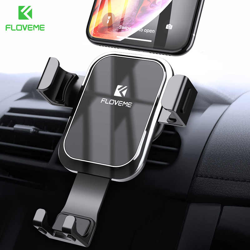 Floveme Gravitasi Mobil Ponsel Pemegang Stand Auto Terkunci untuk iPhone 11 Pro Max Cermin Mobil Udara Vent Outlet Mount Bracket dukungan Telepon