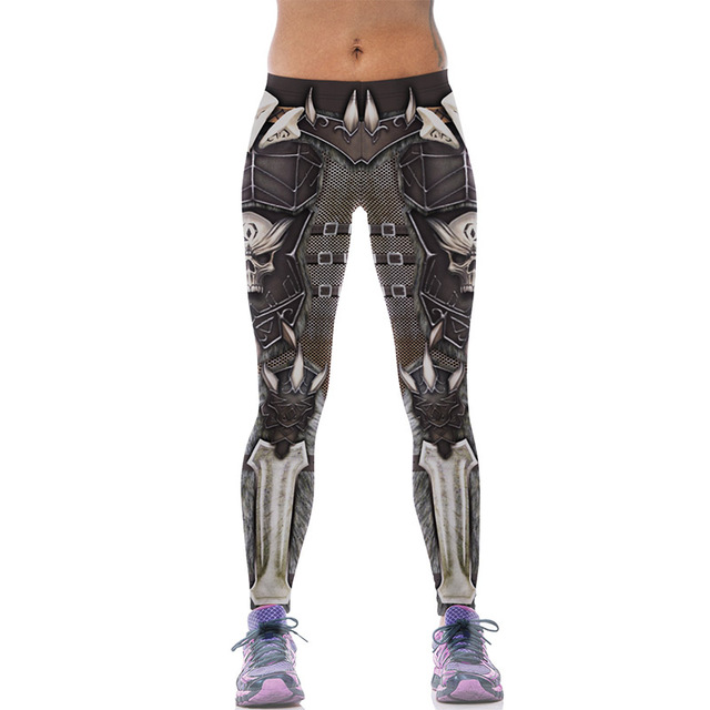 New 543 Sexy Girl leggins WOW Game Skull Alliance and the horde Printed Polyester Elastic Fitness Workout Women Leggings Pants