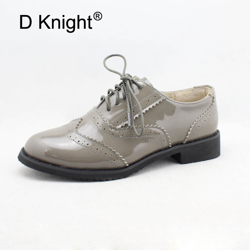 Genuine Leather Flat Shoes Women Handmade Vintage Oxford Shoes For Women Causal Shoes Bullock Womans Shoes with Lace-up Oxfords