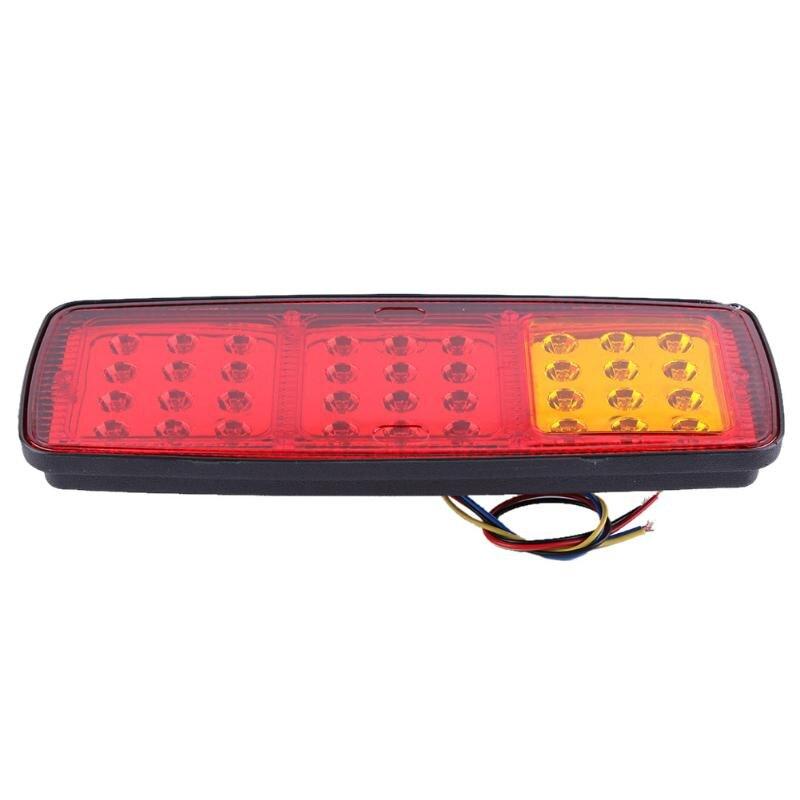 2pcs Lot 24V 36 Led Trailer Car Truck LED Tail Light Lamp Auto Automobile Rear Light