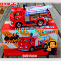 Free shipping FIREMAN SAM Toy Truck Fire Truck Car With Music+LED Boy Toy Educational Toy FB0151