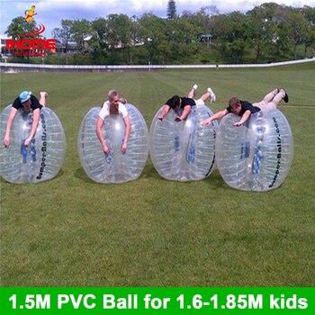12 piezas bolas + 1 ventilador eléctrico de 1,5 M de PVC inflable burbuja de fútbol, pelota de fútbol burbuja bola-bola de futebol