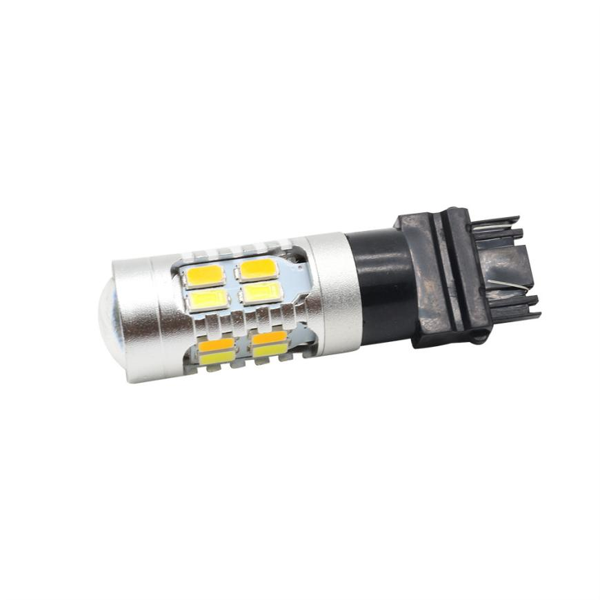 HAMBODER 2X High Power 5730 Chip 3157 Dual Color Switchback SMD LED Tail BrakeLight Bulb Mar24 Drop Ship