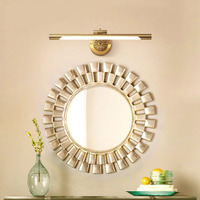 Зеркальный настенный светильник, лампа для ванной комнаты, медное зеркало, шкаф, настенный светильник, Ретро Зеркало для ванной комнаты, фар