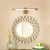 Mirror wall lamp bathroom lamp copper mirror cabinet wall lamp retro bathroom mirror headlight dressing simple wl4211103