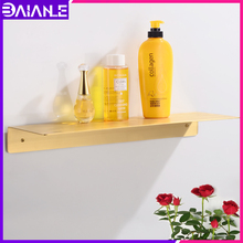 Bathroom Shelf Organizer Brass Bathroom Shelves Shower Storage Rack Wall Mounted Toilet Corner Caddy Shower Shampoo Rack Single
