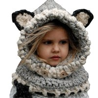 Kids Winter Beanie Hat Baby Boys Girls Crochet Knitted Caps Children Warm Hood Scarves Beanies With