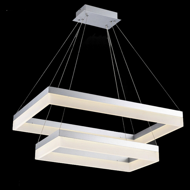 Factory Price Led Chandelier Light Modern Arcylic Ring Suspension Circle Free Shipping