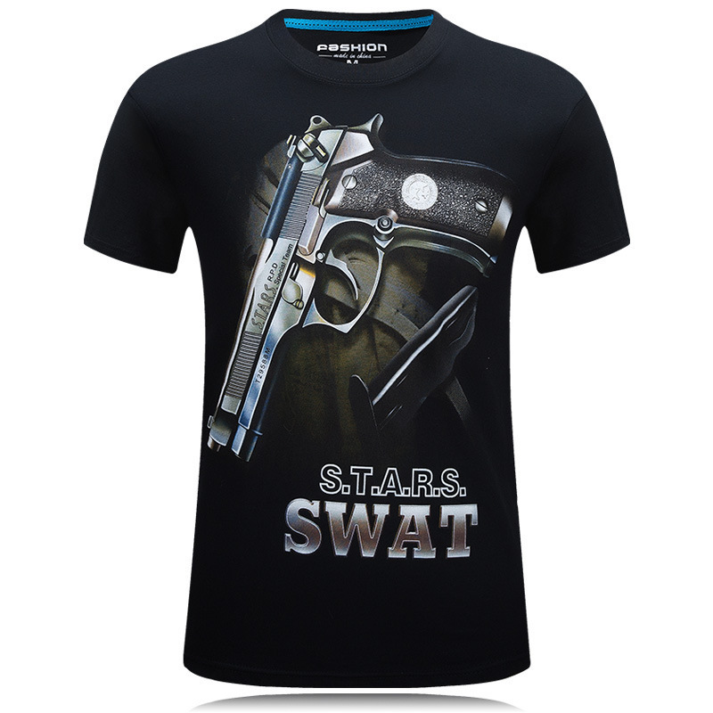 3D printed t-shirts printing men tee shirts Guns Graphic mens t male shirt  homme men's clothing t-shirt tshirt slim fit