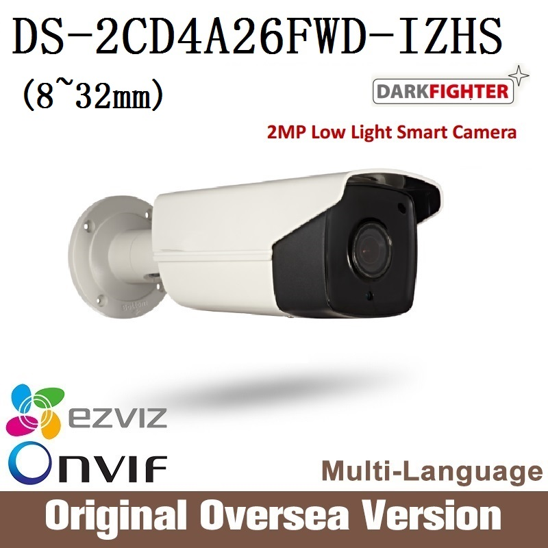 Ip Camera DS-2CD4A26FWD-IZHS 8-32mm original English version 1080p Poe smart IR WDR RJ45 darkfighter support upgrade HIKVISION hikvision ds 2de7230iw ae english version 2mp 1080p ip camera ptz camera 4 3mm 129mm 30x zoom support ezviz ip66 outdoor poe
