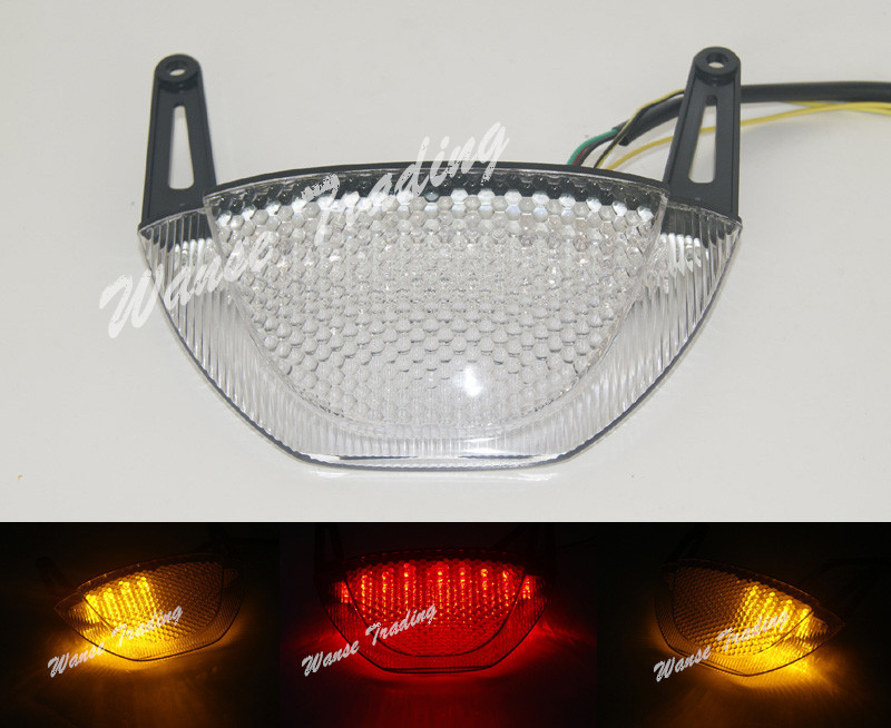 Taillight Tail Brake Turn Signals Integrated Led Light Clear For 2007 2008 2009 2010 2011 2012 HONDA CBR 600 RR 600RR CBR600RR aftermarket free shipping motorcycle parts led tail brake light turn signals for 2008 2012 suzuki hayabusa gsx1300r clear