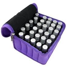 Эфирное масло сумка 30 бутылок эфирное масло чехол для путешествий прочной двойной молнии содержат 5 мл-15 мл бутылки