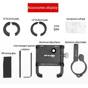 Image 5 - Soporte de montaje para bicicleta y Moto, soporte de GPS para teléfono inteligente Gopro de 3,5 6,2 pulgadas, Banco de energía, Clip para manillar de teléfono móvil
