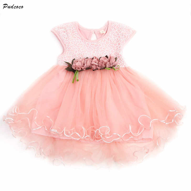 f1ec082d544b6 Pudcoco Tulle Girl Dresses With Vintage Floral Top Summer Party Wedding  Princess Baby Girls Dress Ball Gown Girls Tutu Dress