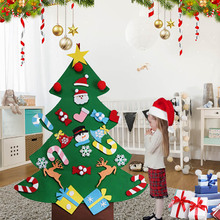 new year gifts kids diy felt christmas tree decorations christmas gifts for 2018 new years door wall hanging ornaments - Felt Christmas Tree For Kids