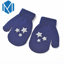 Miya Mona 1 Pair Children kids Dot Star Heart Pattern Gloves High Quality Soft Knitting Winter Warm Mittens For little Boys&Girl