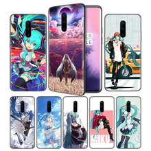 Anime Girl Hatsune Miku Soft Black Silicone Case Cover for OnePlus 6 6T 7 Pro 5G Ultra-thin TPU Phone Back Protective