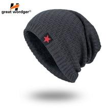все цены на Winter Windproof Hiking Caps Thermal Fleece Knitted hat Men and Women Ski Bike Motorcycle Caps Cycling Warmer wool Helmet